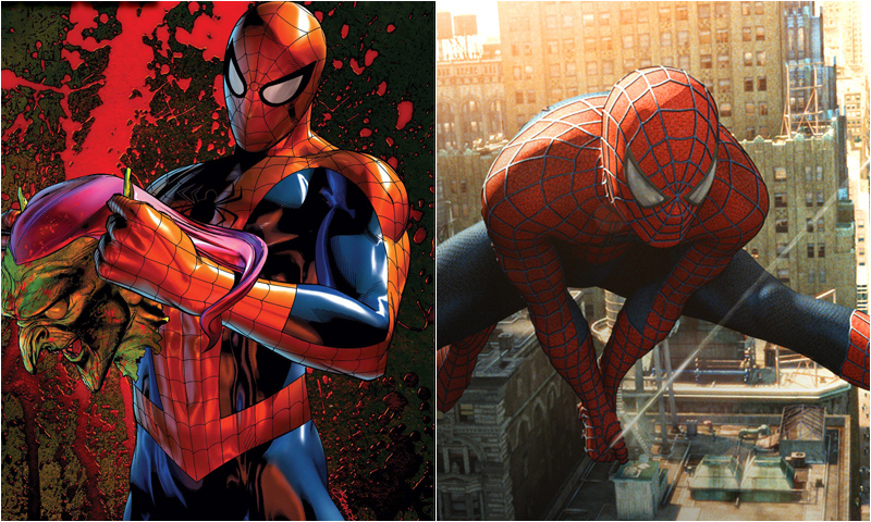 Spider Man Tobey Maguire Comic Icons